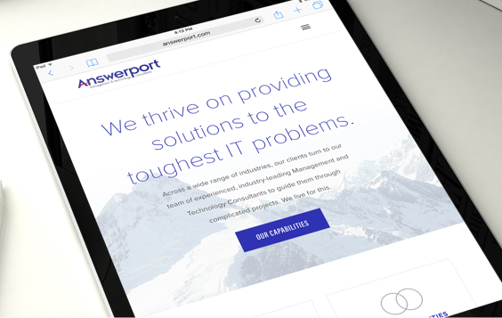 The website redesign for Answerport