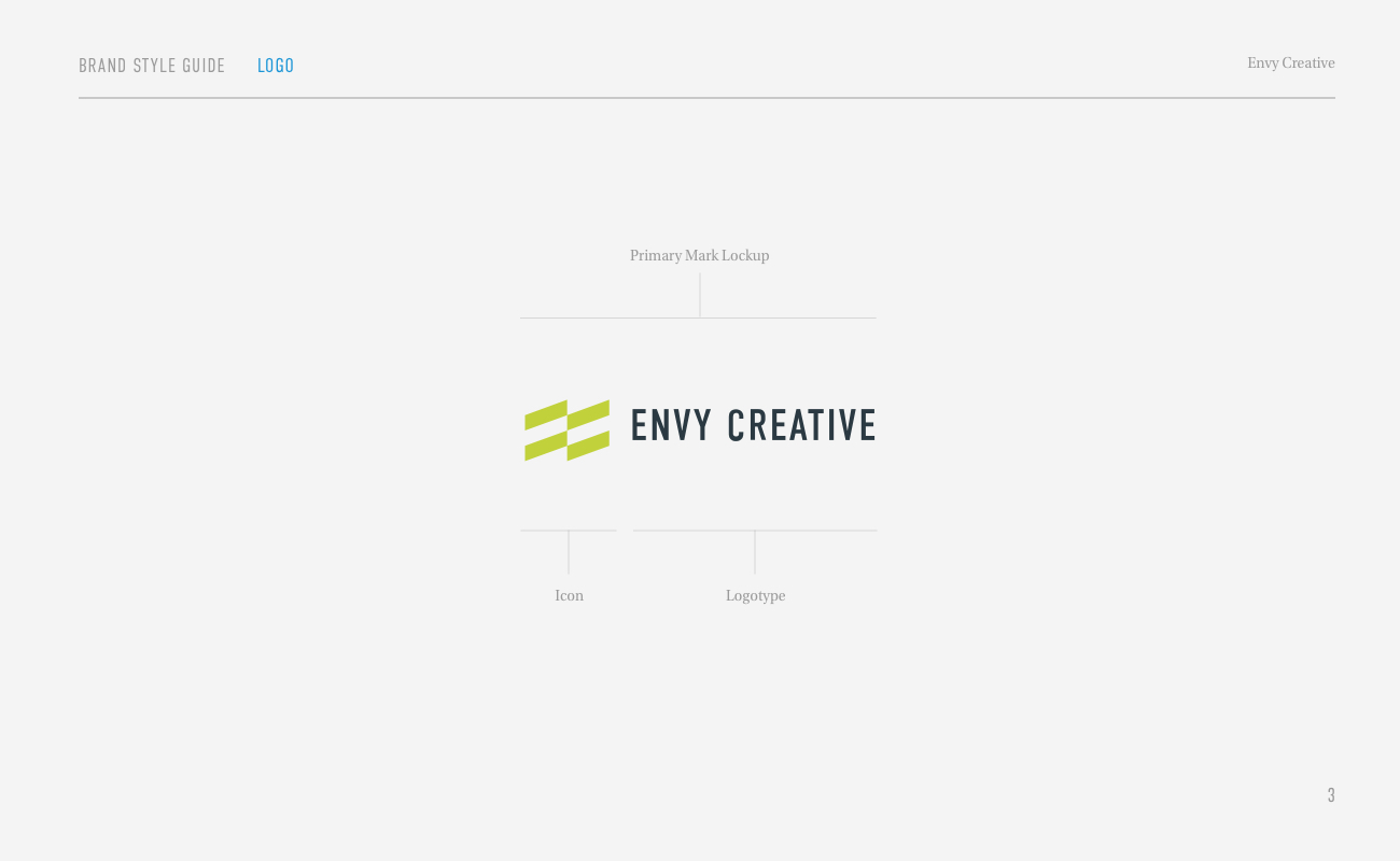 Envy Brand Style Guide Page 3