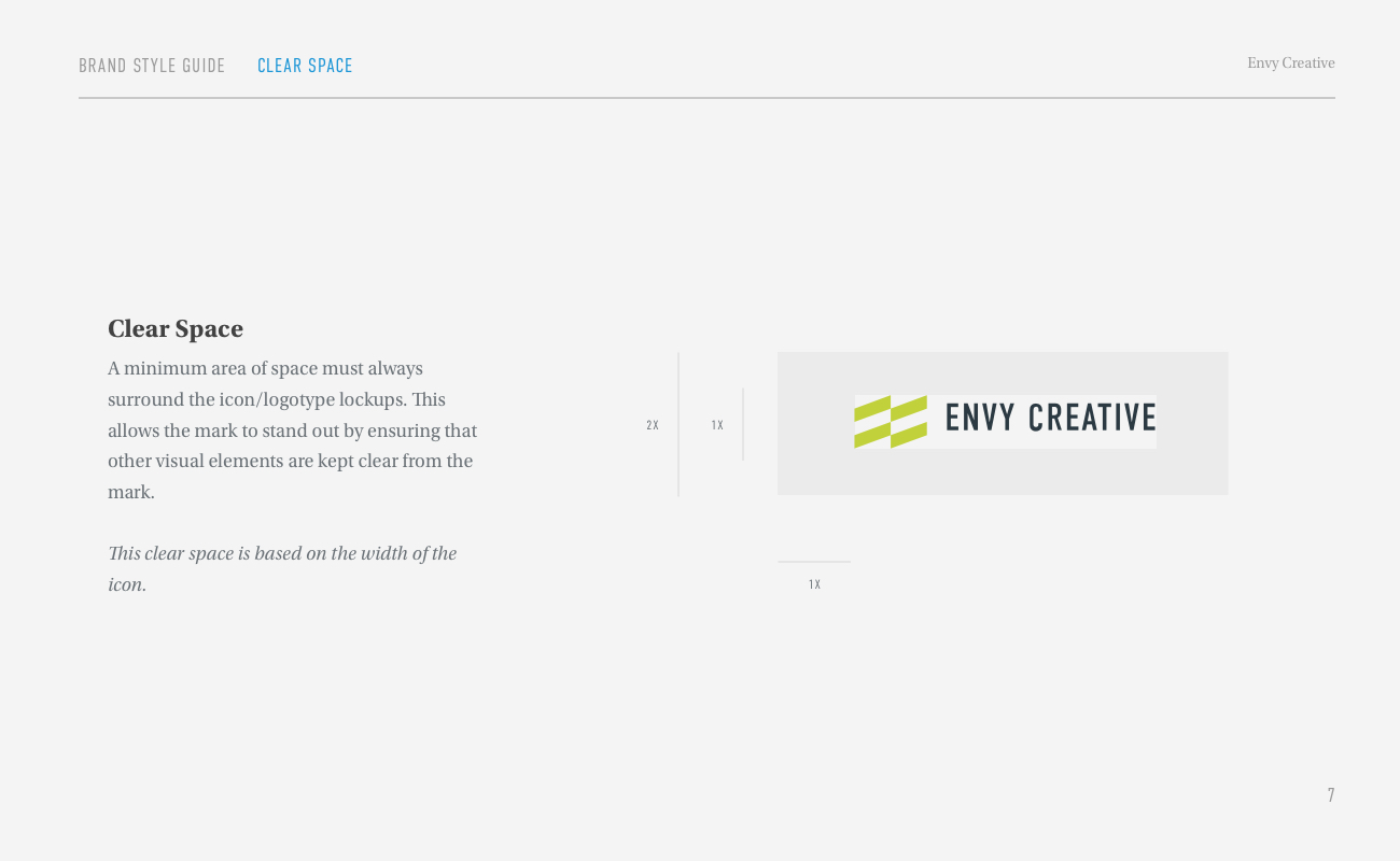 Envy Brand Style Guide Page 7