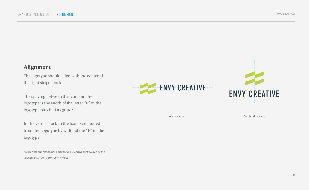 Envy Brand Style Guide Page 9