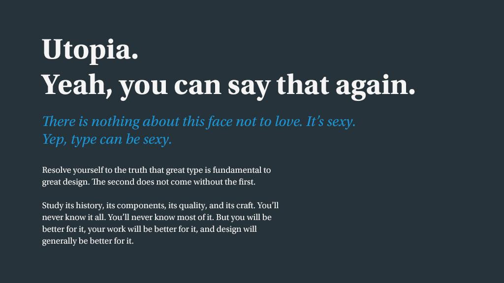 Brand Design Utopia Text Sample